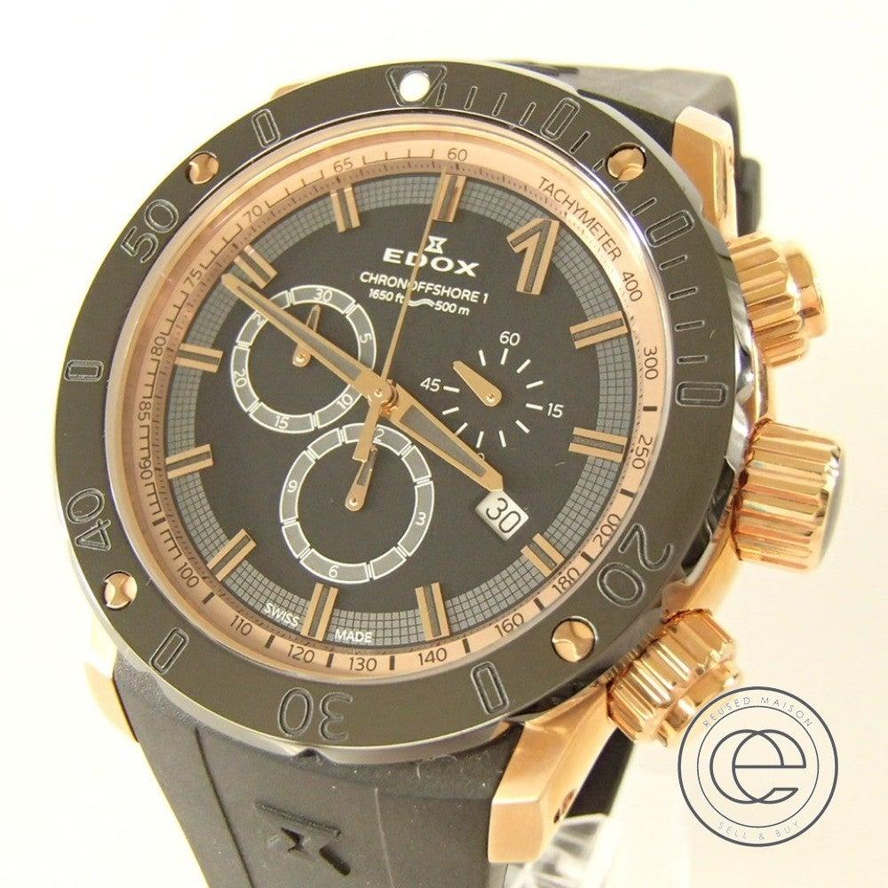 エドックス(EDOX)クロノオフショア1の時計を買取しました。